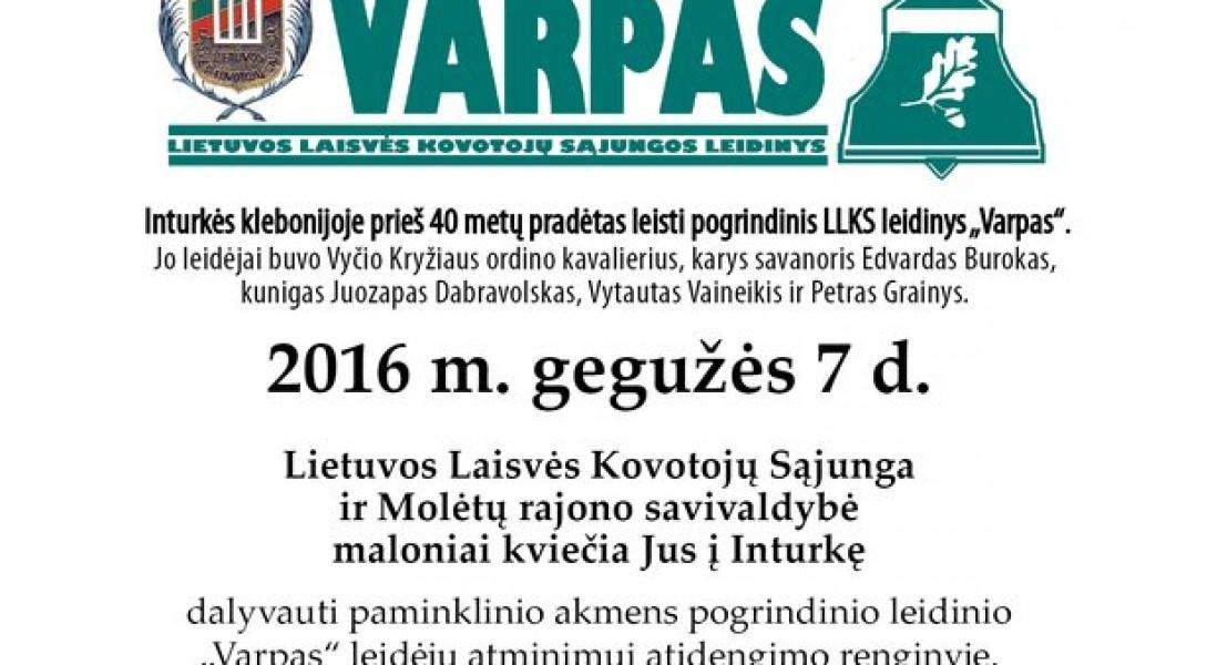 Lietuvos laisvės kovotojų sąjunga ir Molėtų r. savivaldybė maloniai kviečia Jus į Inturkę